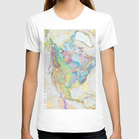 USGS Geological Map Of North America by vintageartstore