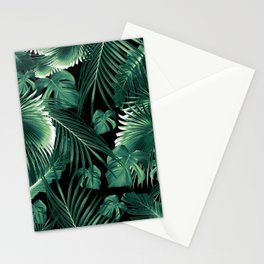 Tropical Jungle Leaves Dream #6 #tropical #decor #art #society6 Stationery Cards