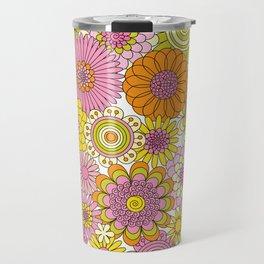Thrifted Linen Rose Travel Mug