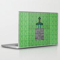 sword Laptop & iPad Skins featuring Diamond Sword by VineDesign