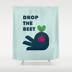 Drop The Beet Shower Curtain