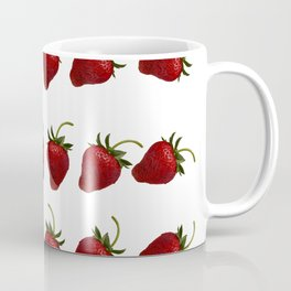 Red, Ripe Strawberries Tumbling in Rows Coffee Mug
