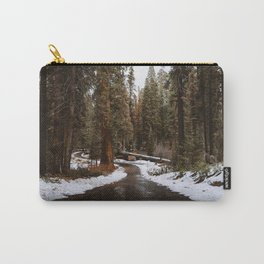 Tunnel Log Road in Sequoia Carry-All Pouch