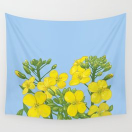 Summer flower in yellow Wall Tapestry