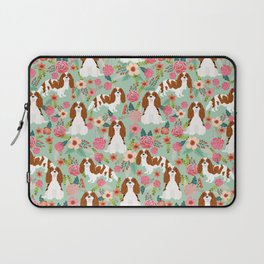 Blenheim Cavalier King Charles Spaniel dog breed florals pattern Laptop Sleeve