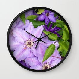 Ramona Clematis Wall Clock