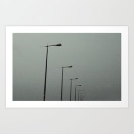 Lights in the sky Art Print