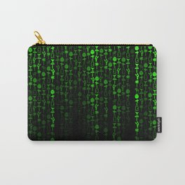 Bright Neon Green Digital Cocktail Party Carry-All Pouch