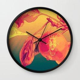 Warrior Peach Wall Clock