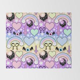 Pastel Goth Collage Throw Blanket