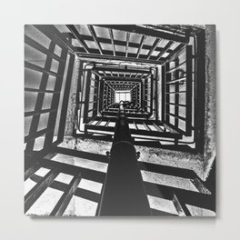 Up the staircase @ Park Hill, Sheffield Metal Print