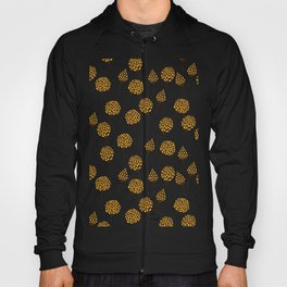 Floral pattern in blue and yellow Hoody