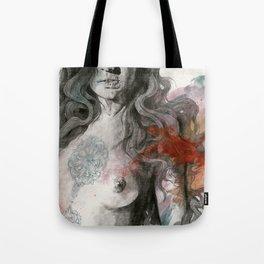 Edit Your Wounds (nude mandala girl erotic drawing) Tote Bag