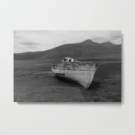 Ruined Fishing Boat, Loch Beg (Isle Of Mull) Metal Print