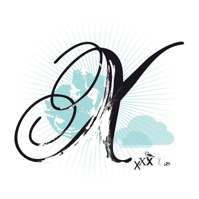 X like Xmas… Duvet Cover