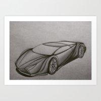Original Supercar Art Print