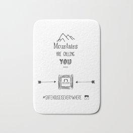 #mountainsarecallingyou Bath Mat