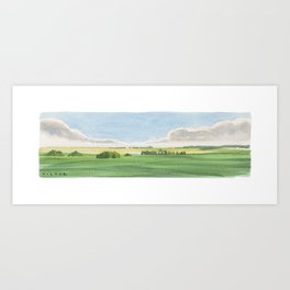Prairie Lands Art Print