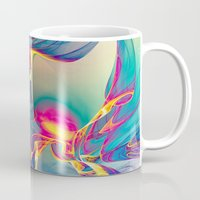 sunrise Mugs featuring Sunrise by Klara Acel