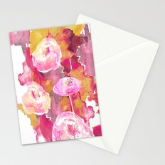 Painterly Flowers Stationery Cards