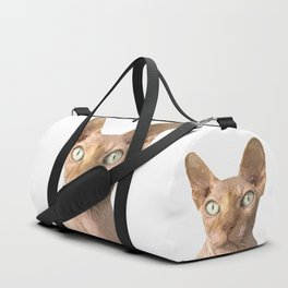 Sphynx cat portrait Duffle Bag