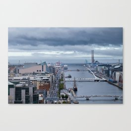 Samuel Beckett bridge aerial view Canvas Print