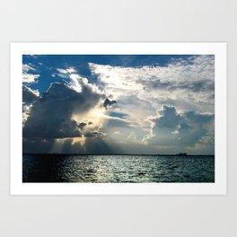 Coconut Grove Sailing Day Art Print