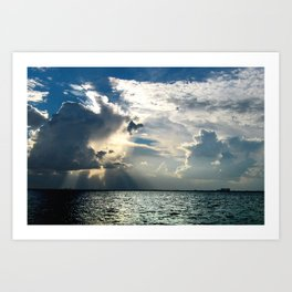 Coconut Grove Sailing Day Art Print