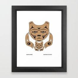 Spirit Bear & Cub by: Jody Broomfield Framed Art Print