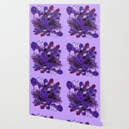 FEBRUARY PURPLE AMETHYST CRYSTAL CLUSTER GEMS Wallpaper