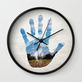 Earth Print Wall Clock