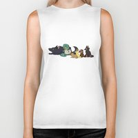 ohana Biker Tanks featuring Ohana by Made of Tin