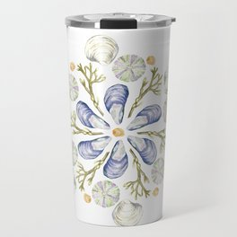 Tide Pool Beach Mandala 2 - Watercolor Travel Mug