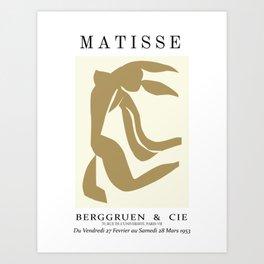 Matisse Cutout-  Henri Matisse-Matisse Exhibition Art Print