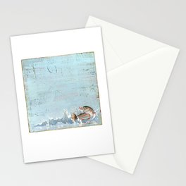 rainbow trout on a hook Stationery Cards