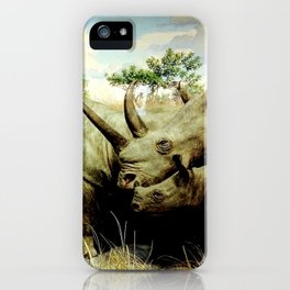 Rhino Family iPhone Case