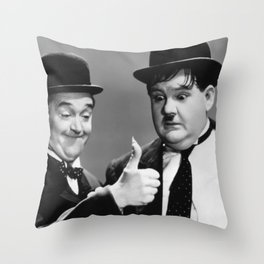 Stan & Ollie Throw Pillow