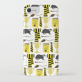 The House of Hufflepuff Pattern iPhone Case
