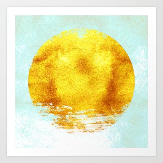 Gold Circle Art Print