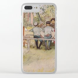 Breakfast under the big birch, 1896 by Carl Larsson Clear iPhone Case