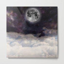 the moon on space sky Metal Print