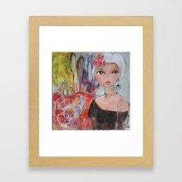 Balade à la campagne Framed Art Print
