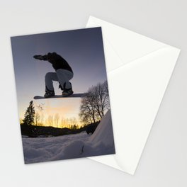 "Surf sur le Crépuscule d'une Nuit d'Hiver"" // Surfing the Twilight of a Winter's Night Stationery Cards"