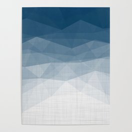 Imperial Topaz - Geometric Triangles Minimalism Poster