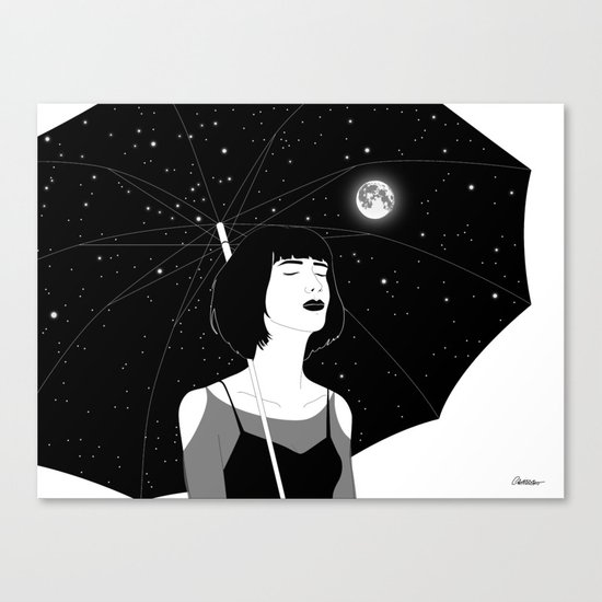 Under The Night Sky Canvas Print