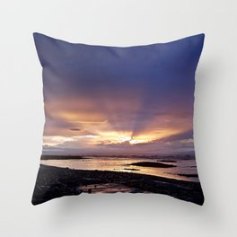 Beams of Light across the Sky Throw Pillow