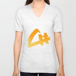 Capital Number Logo Unisex V-Neck