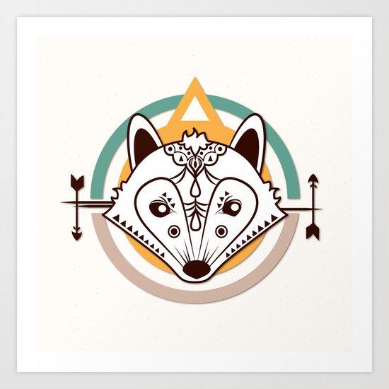 Ethnic - Fox Art Print