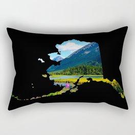 Alaska Outline - God's Country Rectangular Pillow