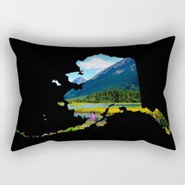 Alaska Outline - God's Country Rectangular Pillow
